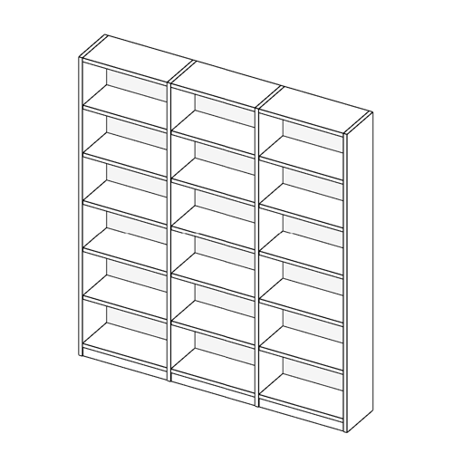 Immagine di Libreria 3 Vani allestimento Basic