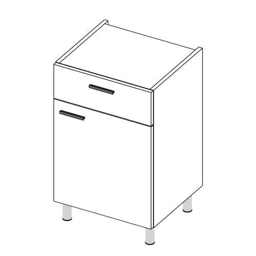 Immagine di Base cucina con cassetto anta Singola