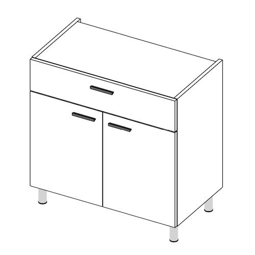 Immagine di Base cucina con cassetto anta Doppia