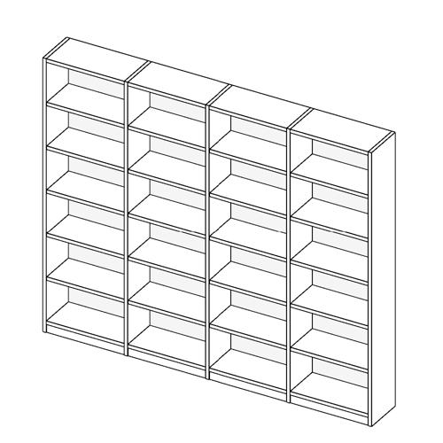 Immagine di Libreria 4 Vani allestimento Basic