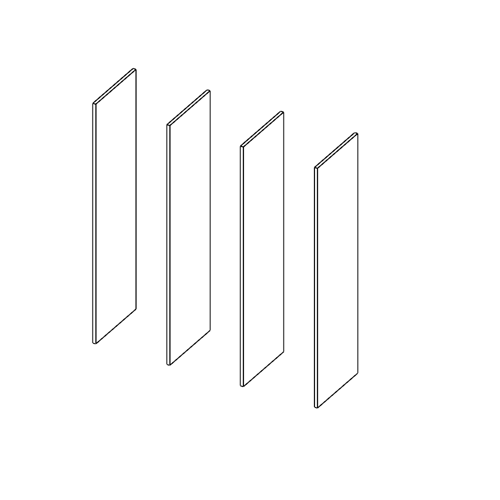 Immagine di Cabina armadio 3 Vani: Disegna in libertà cominciando da quattro montanti
