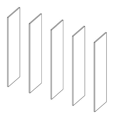 Immagine di Cabina armadio 4 Vani: Disegna in libertà cominciando da cinque montanti