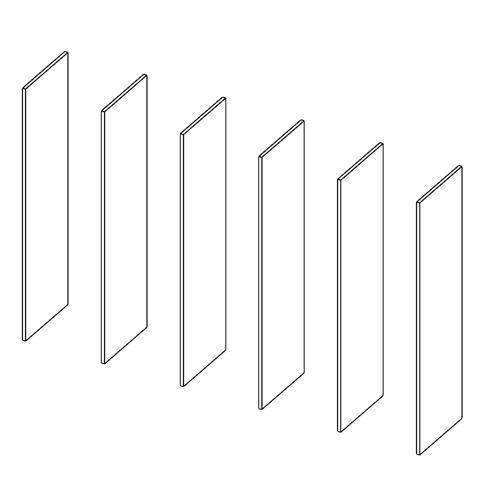 Immagine di Cabina armadio 5 Vani: Disegna in libertà cominciando da sei montanti