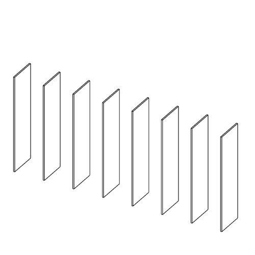 Immagine di Cabina armadio 7 Vani: Disegna in libertà cominciando da otto montanti