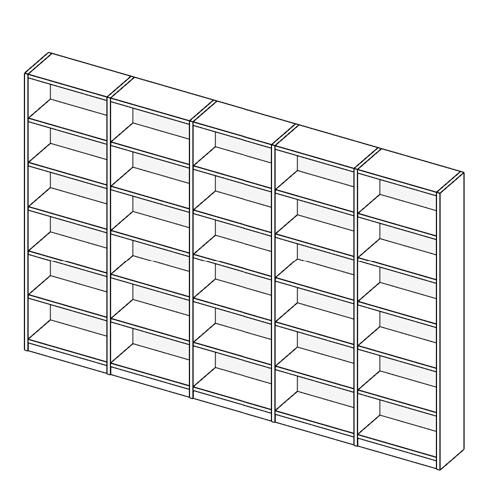Immagine di Libreria 5 Vani allestimento Basic