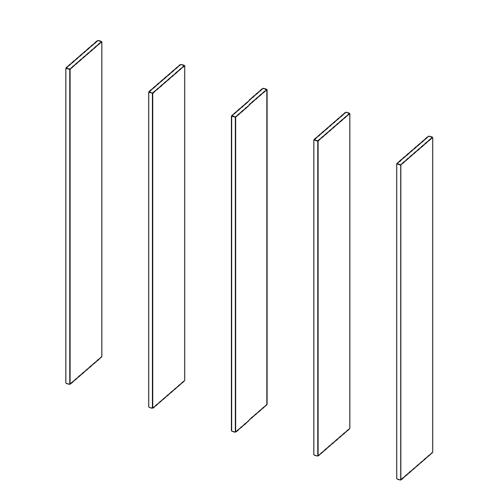 Immagine di Libreria 4 Vani: Disegna in libertà cominciando da cinque montanti