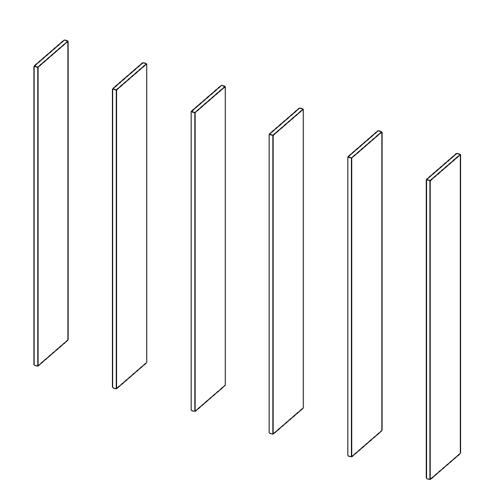 Immagine di Libreria 5 Vani: Disegna in libertà cominciando da sei montanti