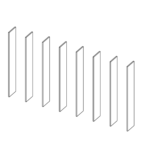 Immagine di Libreria 7 Vani: Disegna in libertà cominciando da otto montanti