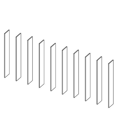 Immagine di Libreria 9 Vani: Disegna in libertà cominciando da dieci montanti